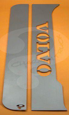 Aplique/Acabamento CHARADA em Inox da Coluna da Porta Volvo VM (Par)