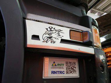 Aplique/Acabamento CHARADA em Inox do Estribo do Scania 2011> (Par)