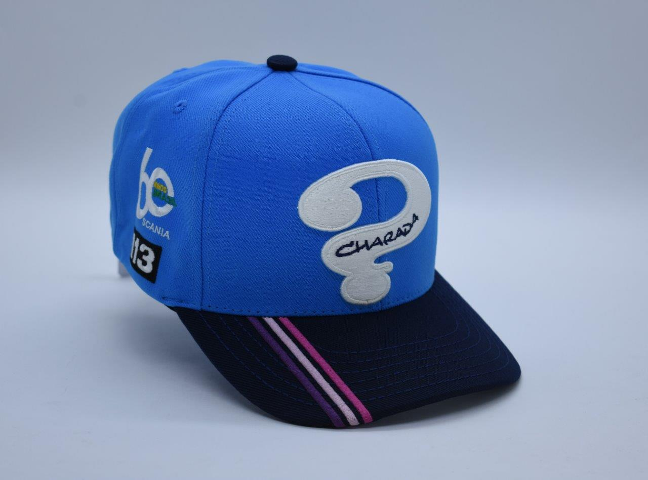 BONE AZUL  ABA CURVA SCANIA 113 COM BORDADO
