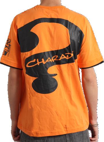 Camiseta CHARADA Laranja Interrogação nas Costas