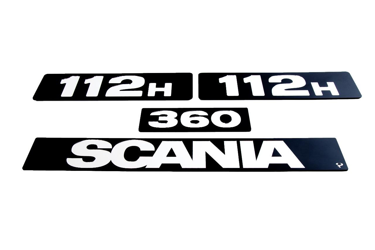 Kit de Placas SCANIA 112 H 320 ou 360  (4 Peças) em Acrílico CHARADA