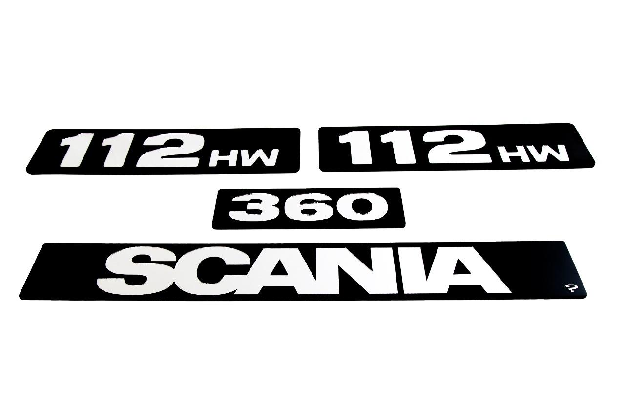 Kit de Placas SCANIA 112 HW  320 OU 360 (4 Peças) em Acrílico CHARADA