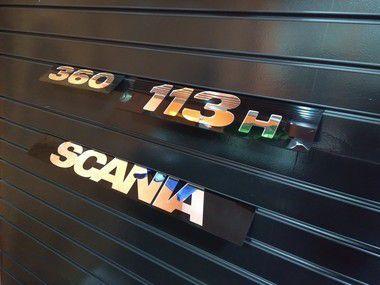 Kit de Placas SCANIA 113 (4 Peças) em Acrílico CHARADA
