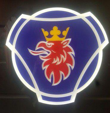 Logomarca SCANIA em Acrílico com LED