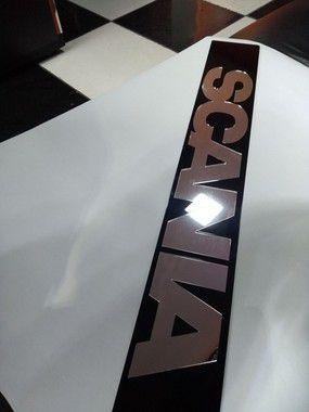 Placa SCANIA 113 em Acrílico CHARADA
