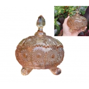 bomboniere de cristal potiche bruxelas com pé decoração sala D11xA14 enfeite vidro vaso decorativo
