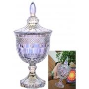 bomboniere de vidro cristal potiche baleiro decoração A24,5 x D11 enfeite decorativo