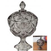 Bomboniere de vidro cristal potiche bruxelas alta A27x D17 enfeite vidro vaso decorativo