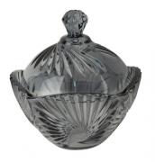 Bomboniere potiche de cristal classica A12x12 enfeite decorativo vidro azul acinzentado