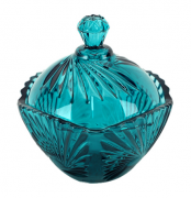 Bomboniere potiche de cristal classica A12x12 enfeite decorativo vidro verde esmeralda