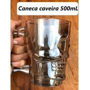 Caneca caveira fosca de vidro Chop 500mL copo de vidro cerveja