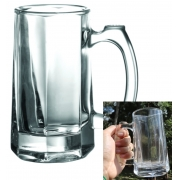 Caneca Transparente de vidro Chop 355mL copo de vidro cerveja 2 unidades
