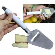 cortador de queijo manual plaina fatiador de queijos aço inox marmore 23cm
