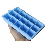 Forma de gelo papinha de silicone 15 cubos livre de bpa azul