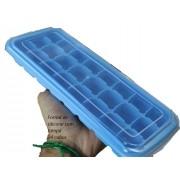 forma de gelo papinha de silicone 24 cubos azul com tampa