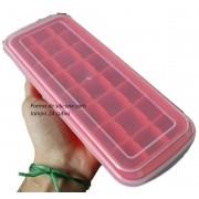 forma de gelo papinha de silicone 24 vermelho cubos com tampa