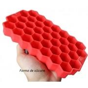 Forma de gelo papinha de silicone 37cubos livre de bpa Vermelho