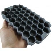 forma de gelo silicone papinha 37 cubos cinza sem bpa forminhas para gelo