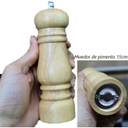 moedor de pimenta cozinha sal grosso madeira 15cm triturador de sal especiarias MimoStyle