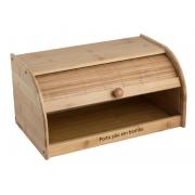 porta pão de bambu com tampa retratil cozinha café  guarda pão mimostyle