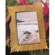 Porta retrato dourado sol foto 10x15 luxo decoração mesa sala