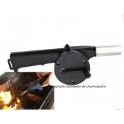 Soprador acendedor de churrasqueira carvão brasa lareira brasa rapida e facil sem esforço