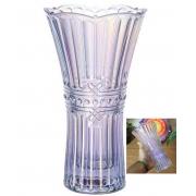 Vaso floreiro de cristal decorativo A24 X D13