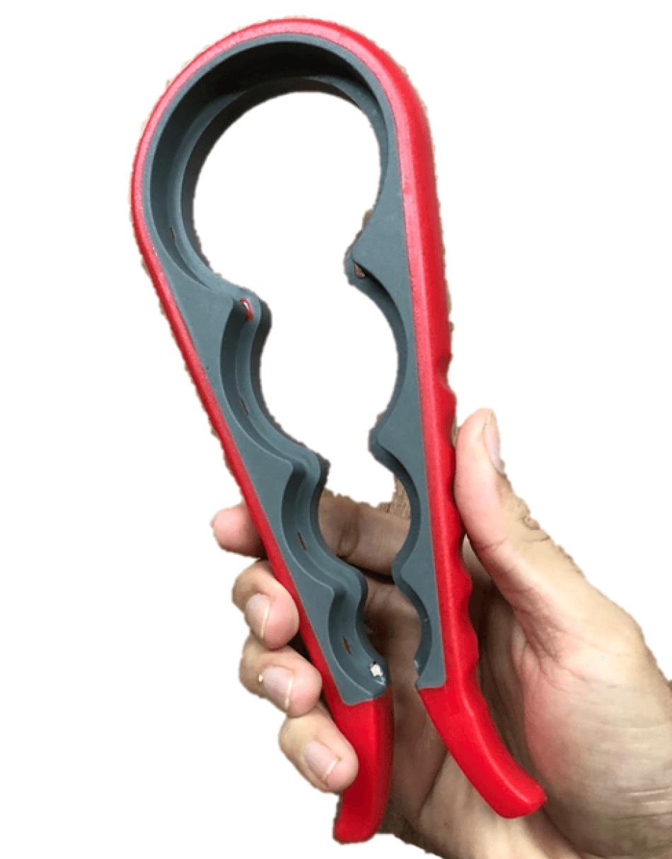 Abridor de tampa frascos e potes abre fácil tampas 4 tamanhos 22cm