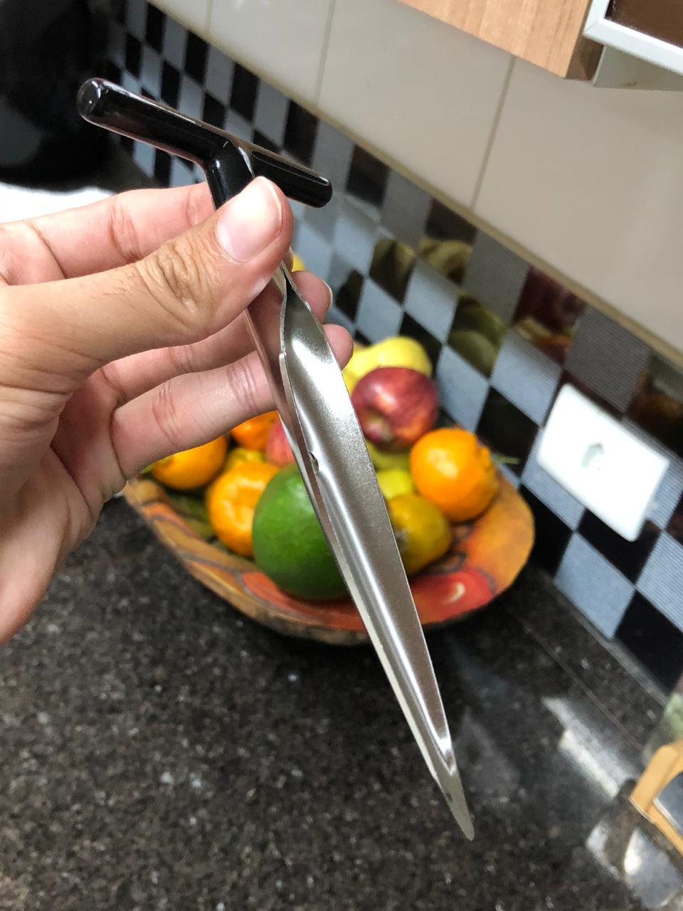 Abridor furador de coco manual fácil profissional aço inox