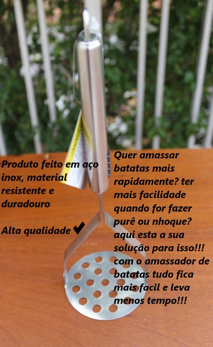 Amassador de batatas em Aço inox MimoStyle espremedor de batata