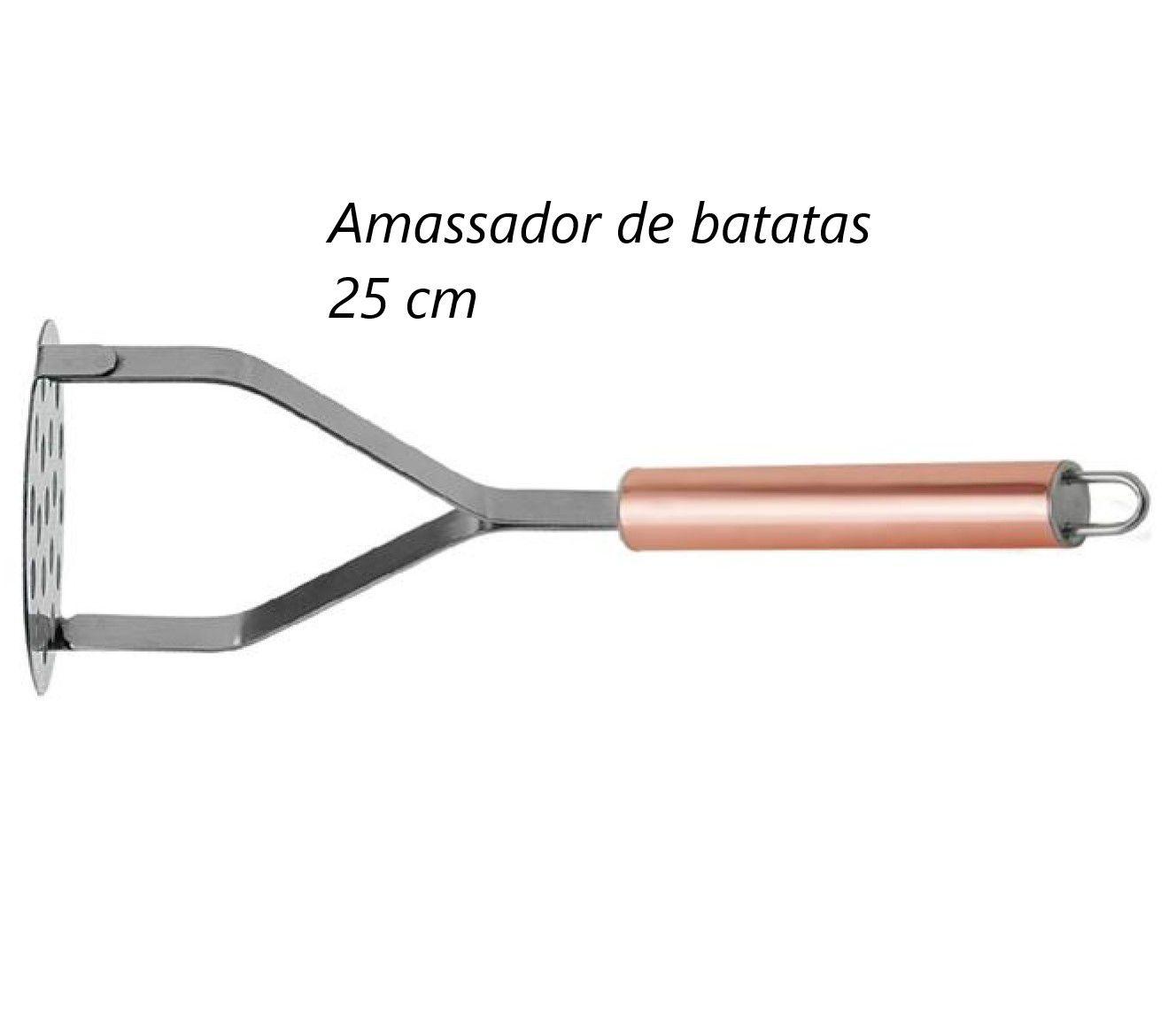 Amassador de batatas em Aço inox Rose cobre MimoStyle espremedor de batata purê