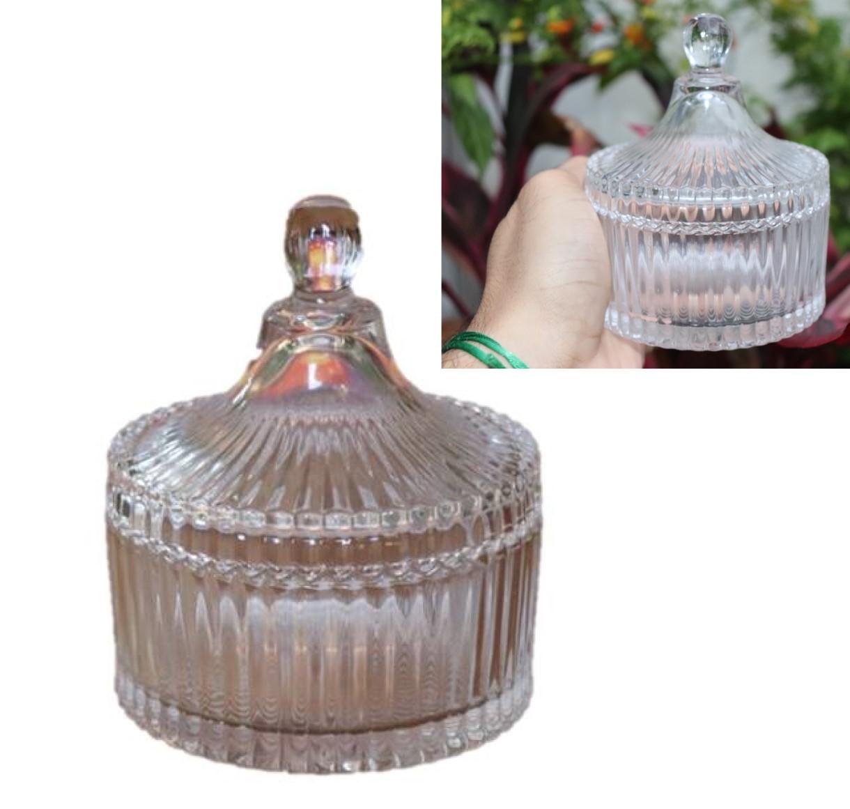 bomboniere de cristal potiche decoração sala A10,5x12,5 enfeite vidro vaso decorativo