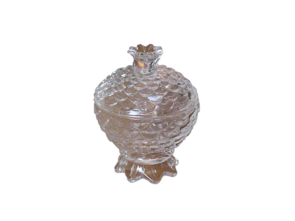 bomboniere de cristal potiche decoração sala A13,5x9,5 enfeite vidro vaso decorativo