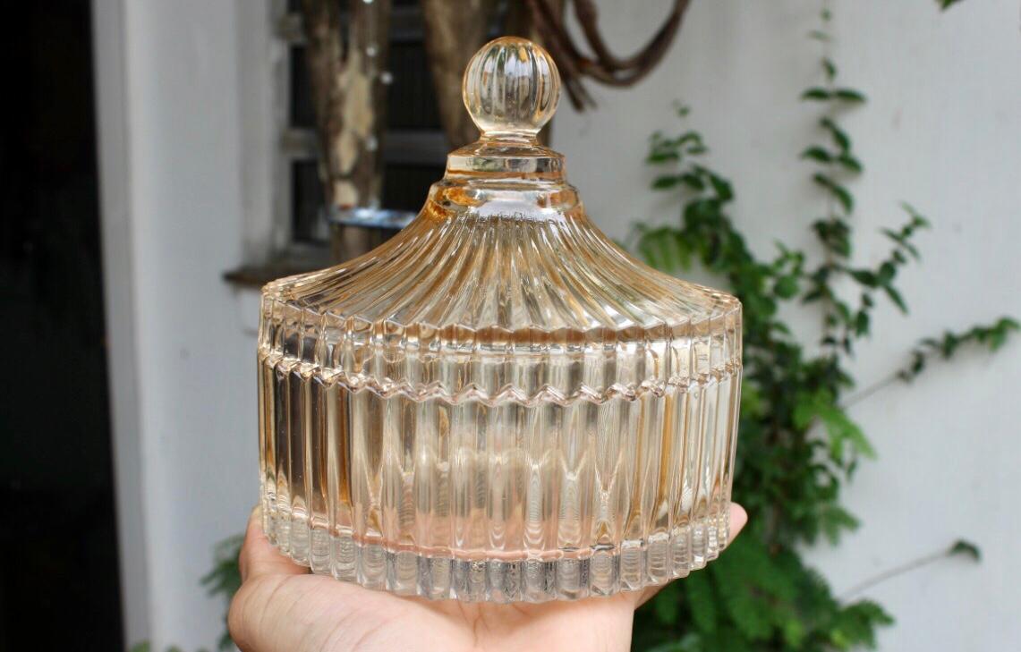 bomboniere de vidro cristal circus enfeite decorativo ambar
