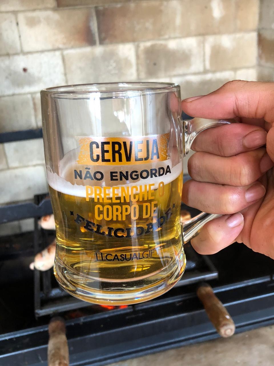 caneca de chopp cerveja de vidro divertida 400ml copo caneca chop criativa