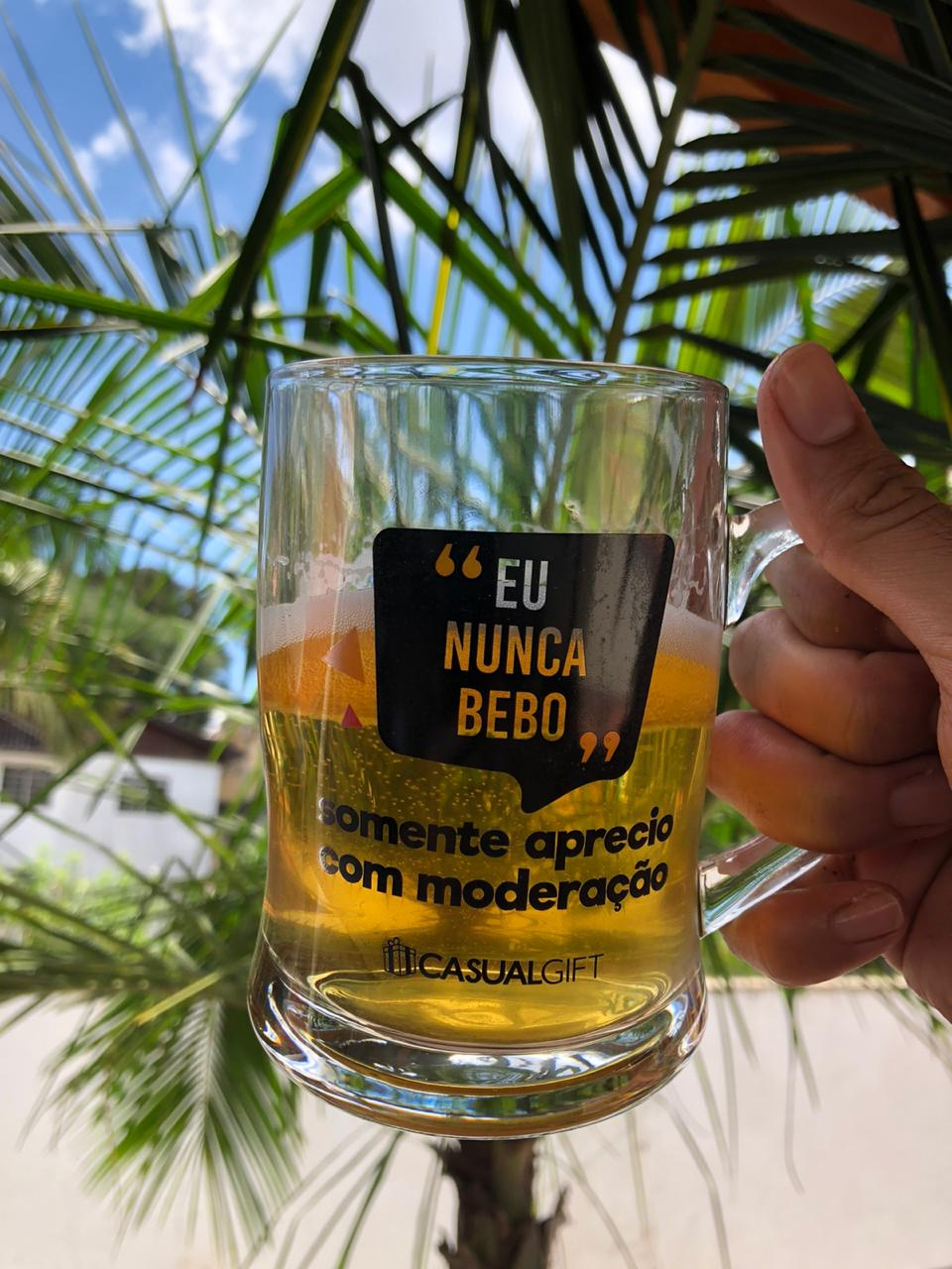 caneca de chopp cerveja de vidro divertida 400ml copo caneca chopp criativa