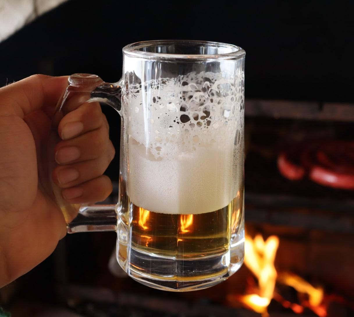 Caneca Transparente de vidro Chop 365mL copo de vidro cerveja 2 unidades