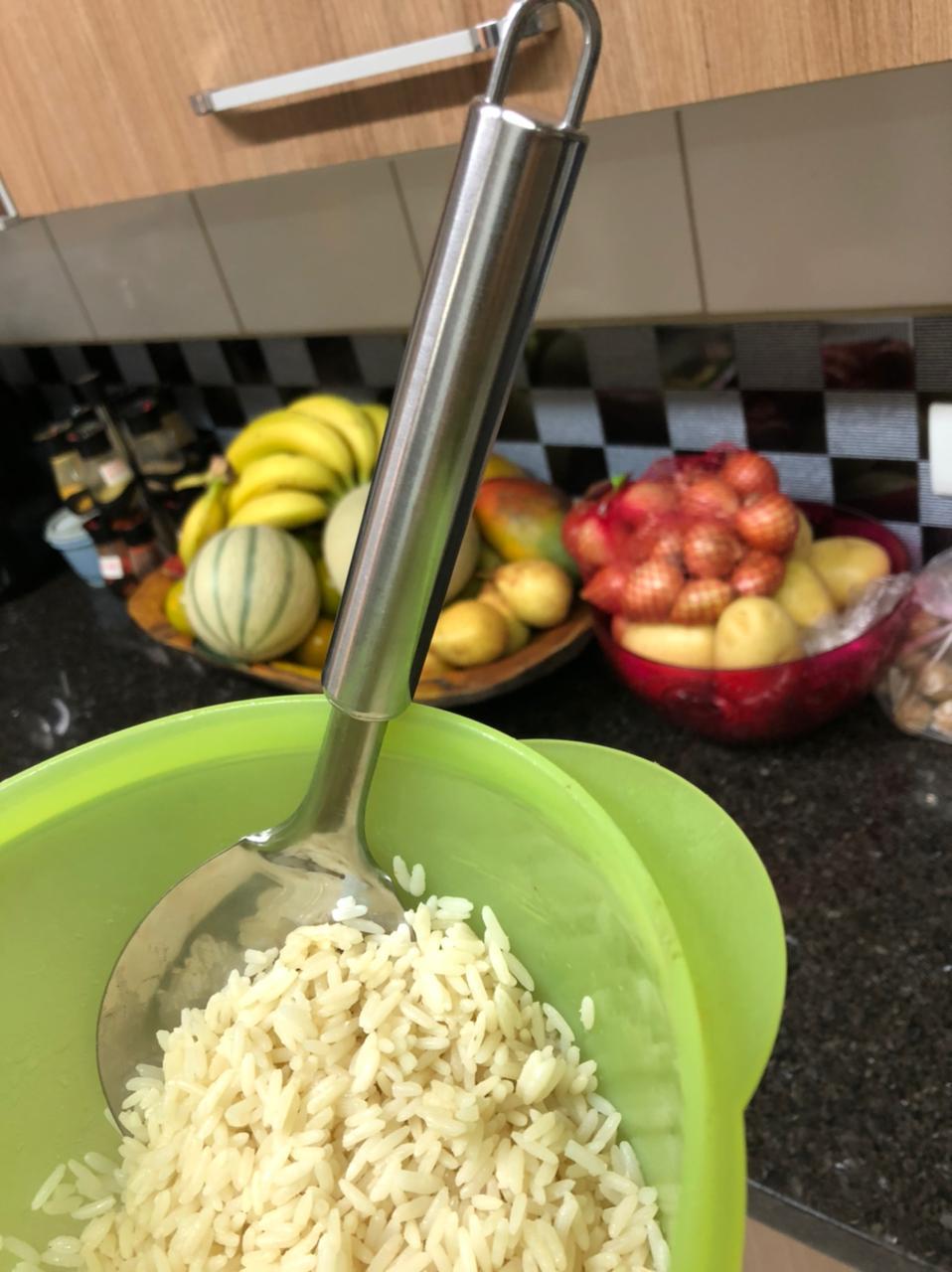 colher de arroz cozinha grande para arroz utensilio em aço inox 27cm