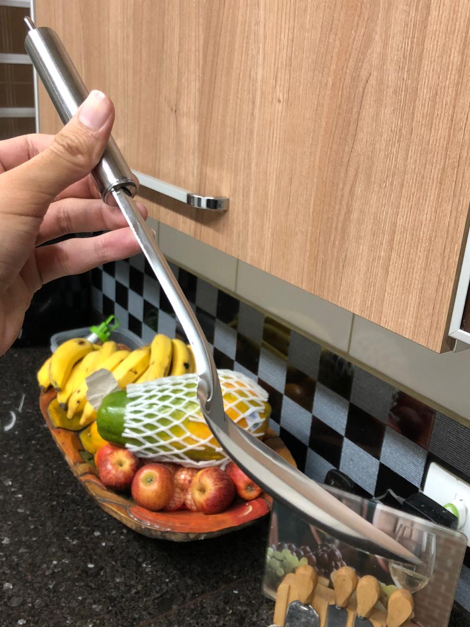 colher de cozinha grande para arroz utensilio em aço inox 33cm