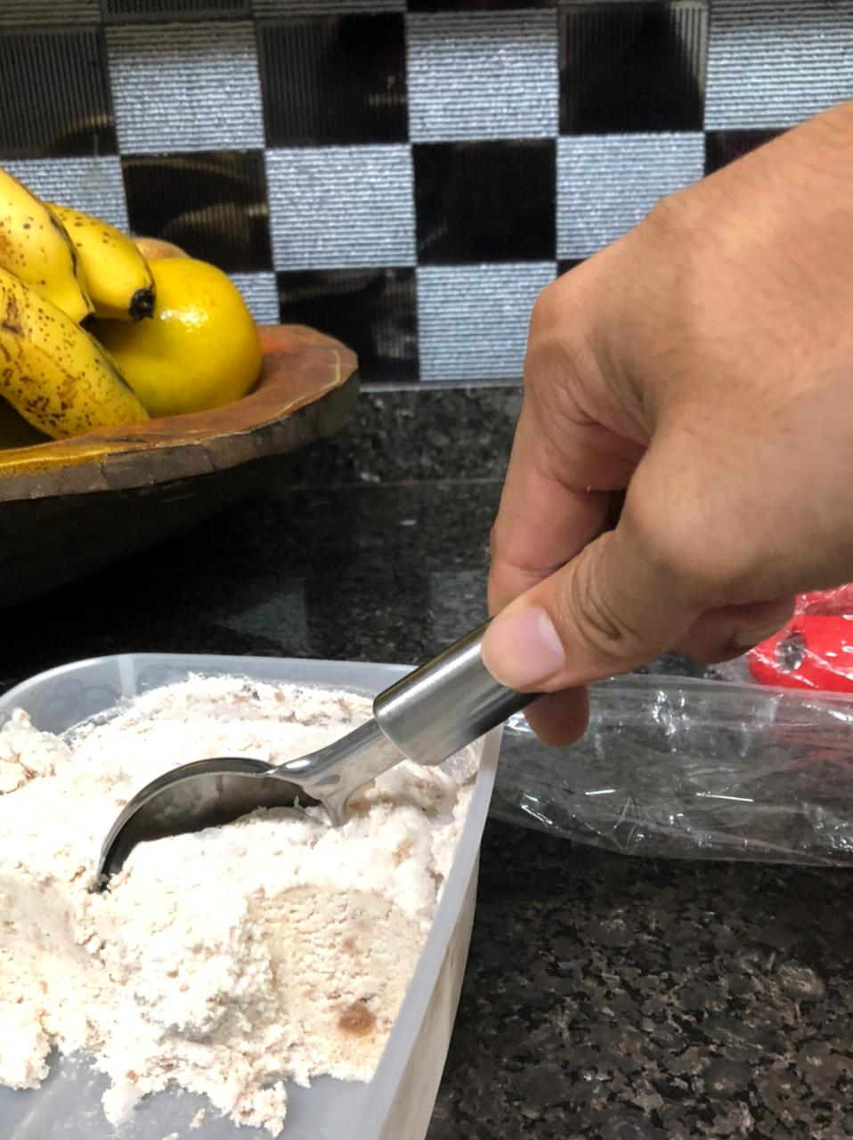 colher de sorvete sobremesa aço inox 21cm pegador de sorvete