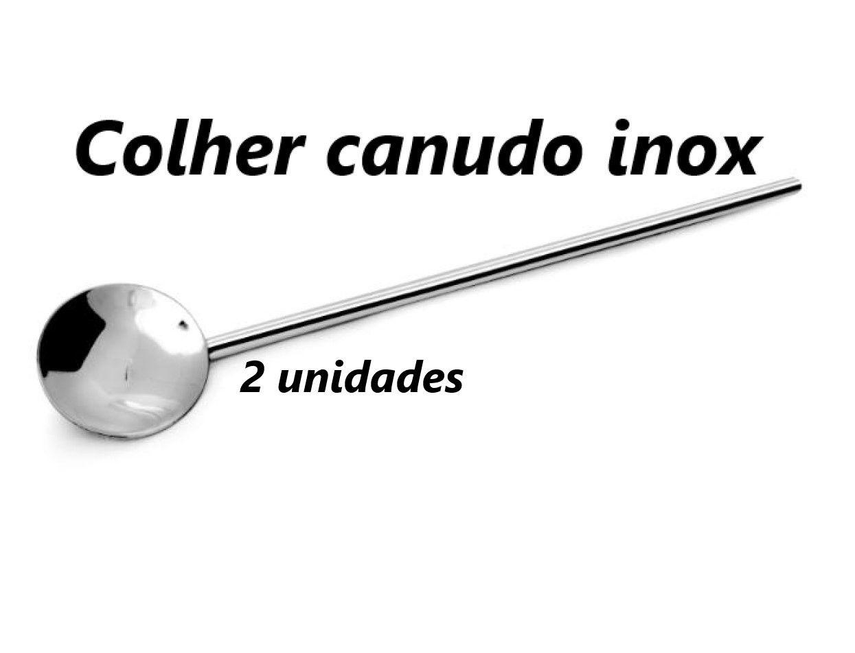 Colher para coquetel 2 unidades inox suco drinks colher longa bailarina