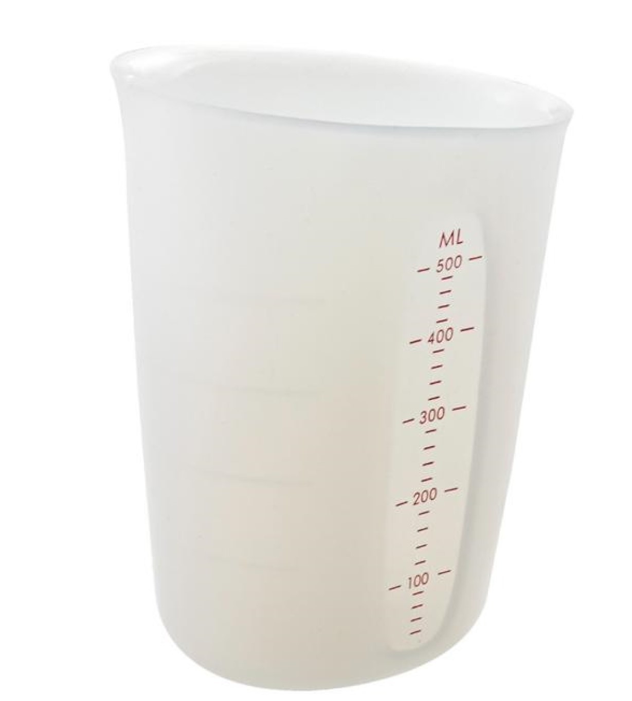 copo medidor flexível silicone jarra medidora cozinha 500mL