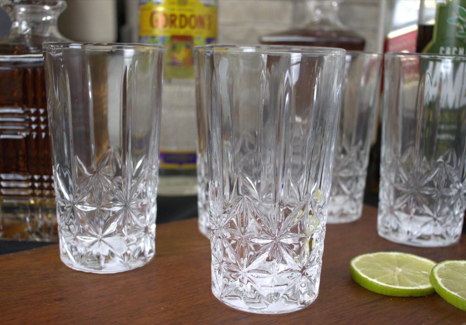Copos de suco caipirinha 6 unidades vidro luxo 265mL copo para bebidas