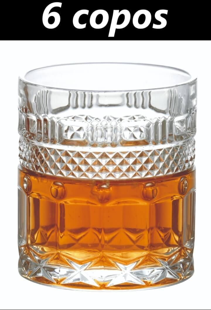 Copos de whisky 6 unidades de cristal écologico luxo classico 330mL copo para uisque