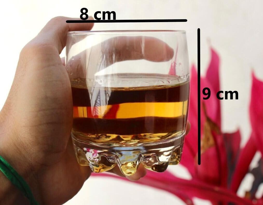 Copos de whisky 6 unidades em vidro 300mL sylvana copo para uisque