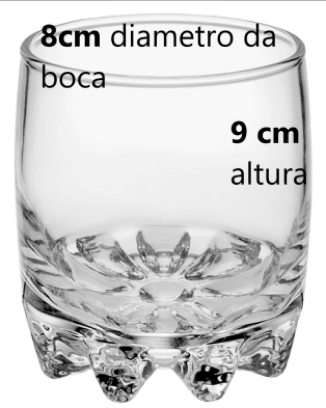 copos para whisky 6 unidades em vidro 300mL sylvana copo de uisque