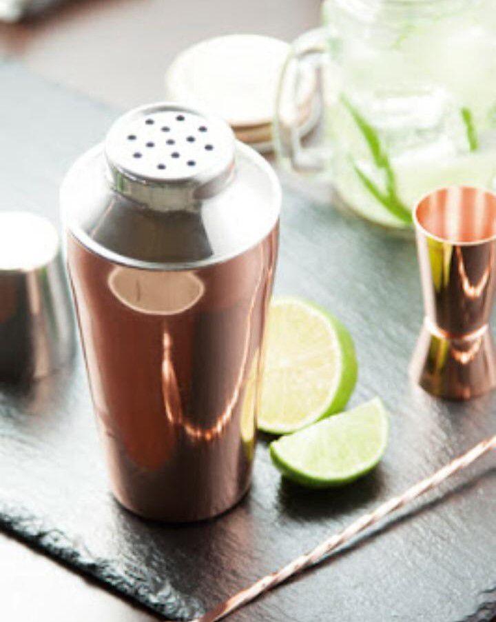 coqueteleira inox 500mL cor cobre para drinks barman bartender