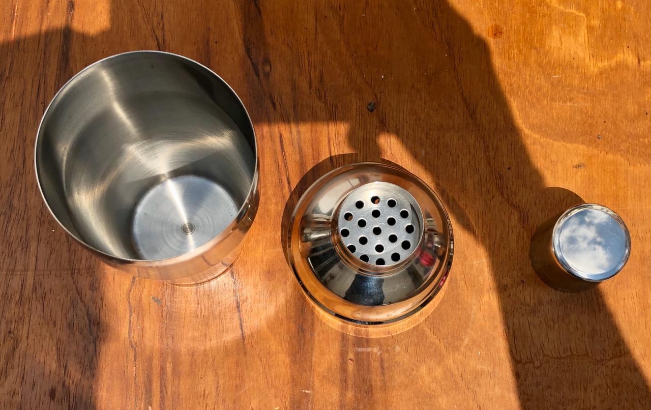 Coqueteleira de aço inox 500mL para drinks barman clink