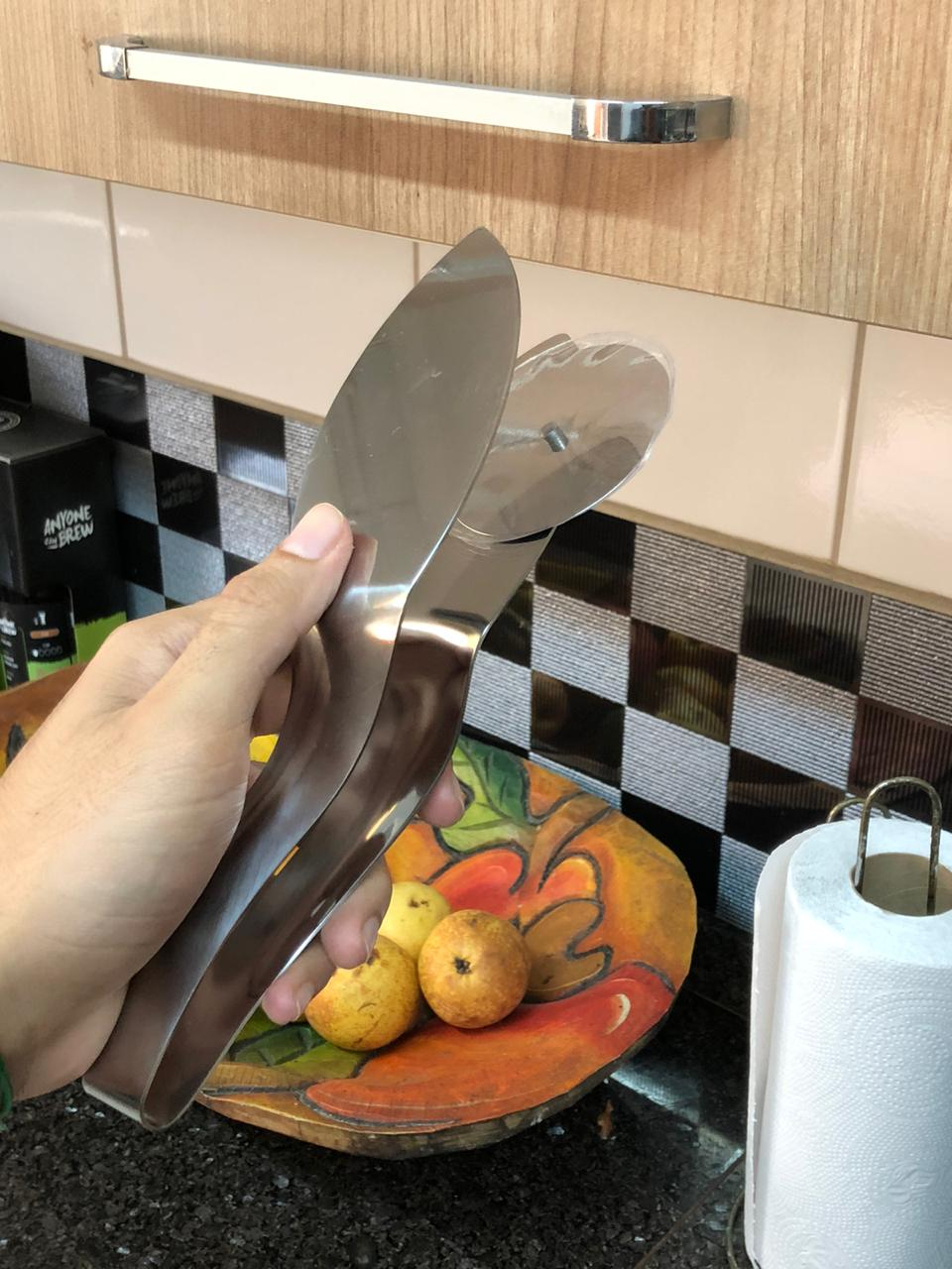 Cortador de pizza e pegador para servir aço inox 23cm
