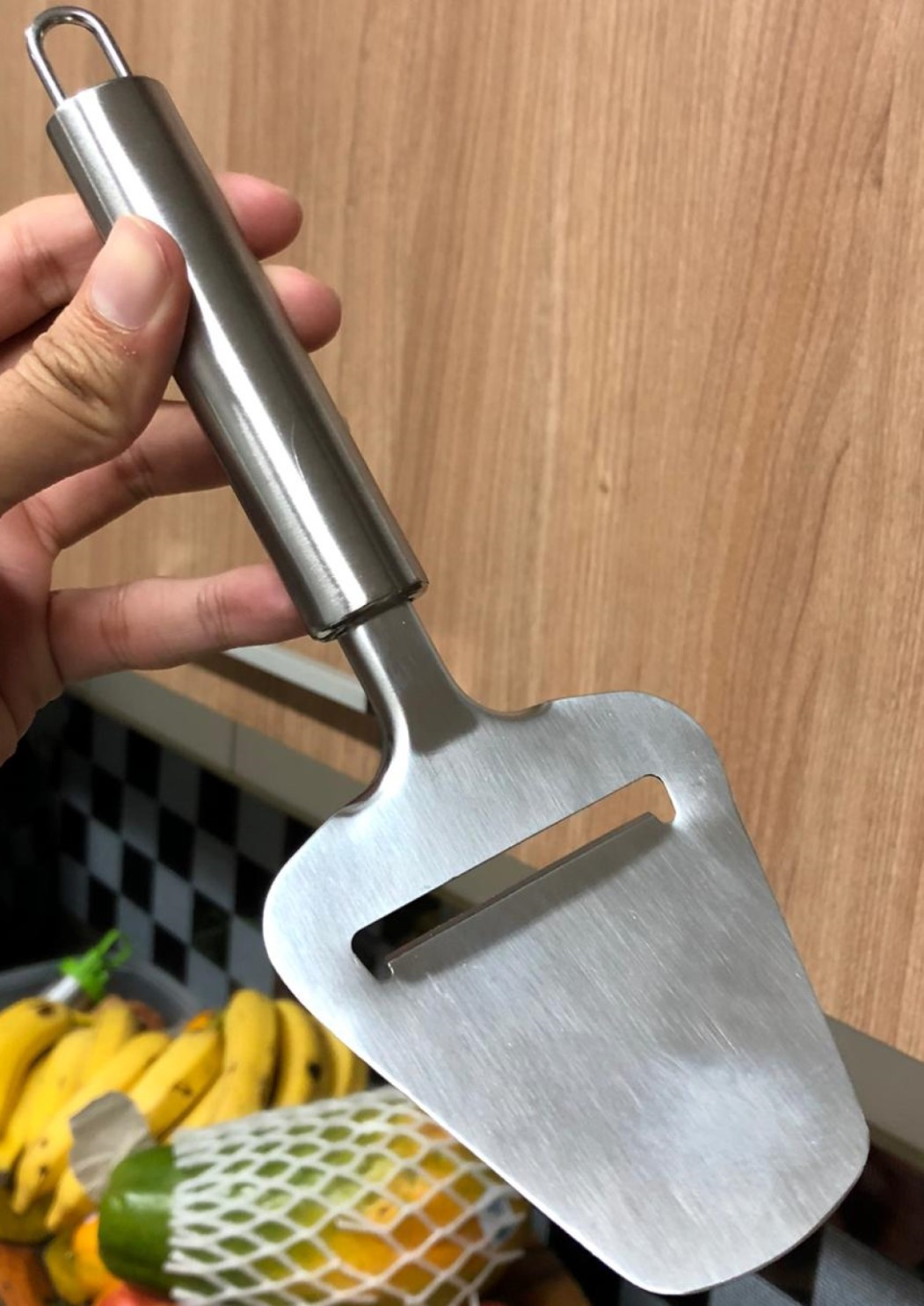 cortador de queijo manual plaina fatiador de queijos aço inox 23cm